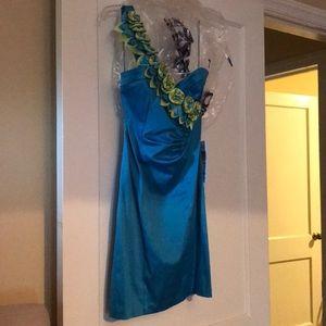 Semi Formal One Shoulder Dress